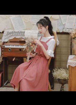 裙子仙女超仙森系甜美連身裙2019流行新款夏天吊带裙女學生小清新