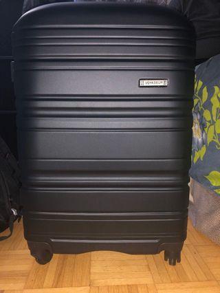 "24"" hard cover suitcase black"