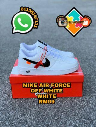 NIKE AIR FORCE OFF WHITE WHITE (pm me for the more size)