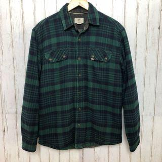 🔴古著 復古 Timberland 仿羊羔毛 保暖 格紋外套 襯衫 vintage