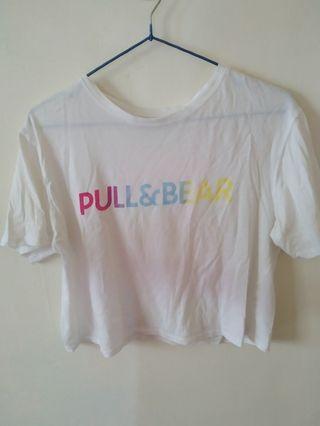 [Pull&Bear]白色短板上衣