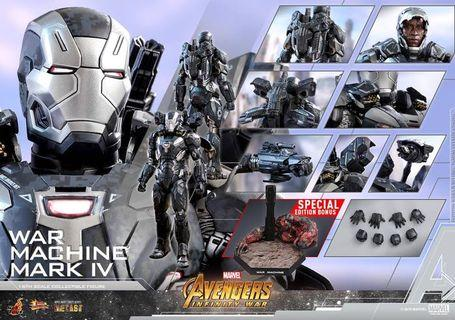 hot toys infinity war war machine special edition