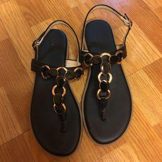 黑色 平底涼鞋 T涼鞋 夾腳拖鞋