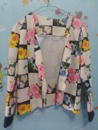 preloved Cardigan flower super cantik  size S