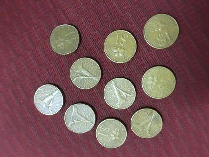 Duit Syiling Lama RM1 Gold Coin