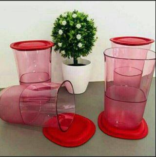 Tupperware Eleganzia Red Tall Cup