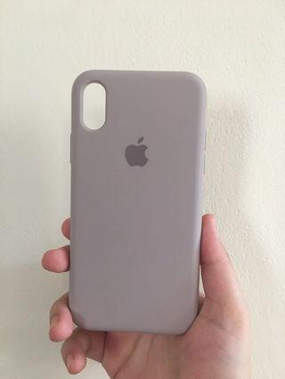 iPhone X 薰衣草紫矽膠保護殼