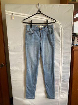 Garage高腰淺色jeggings牛仔褲
