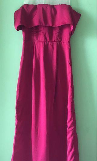 LONG DRESS SABRINA MERAH #VISITSINGAPORE