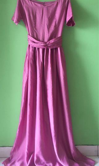 LONG DRESS PURPLE #VISITSINGAPORE
