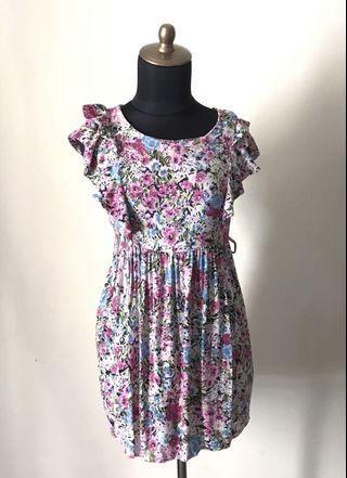 Forever 21 Pretty & Colorful Floral Print Mini Dress