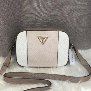 Authentic Guess camera crossbody Bag in colour block