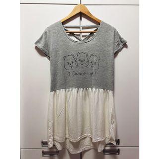 日本帶回🇯🇵Care Bear拼接後交叉休閒洋裝 #五折清衣櫃