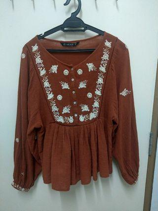 Zara ethnic blouse