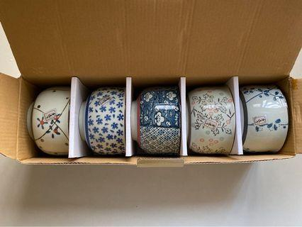 鍋寶和風釉下彩繪碗