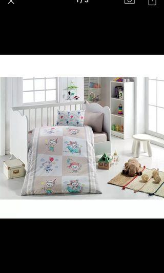 Brand New Little Dreams Teddy Bear Patterned Duvet Cover Set