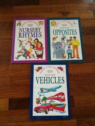 Know Your Series : Nursery Rhymes, Opposites, Vehicles