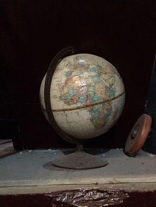古董地球儀擺設
