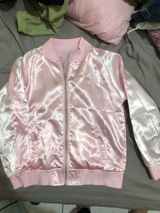 日系粉色棒球外套原宿