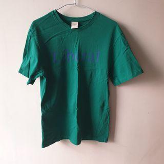pazzo 綠色字母短袖上衣 寬鬆版型