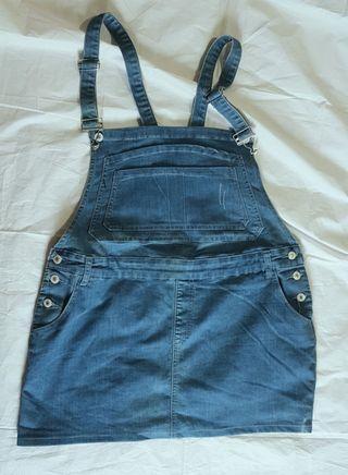 Denim skirt overall plus size
