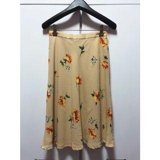日本古著🇯🇵超修身花柄直筒裙