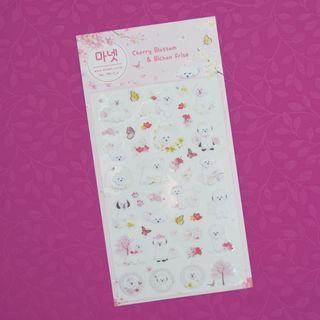 Monet Bichon Frise Diary Deco Stickers