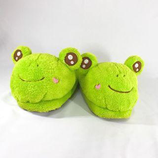 大眼蛙 保暖厚底拖鞋