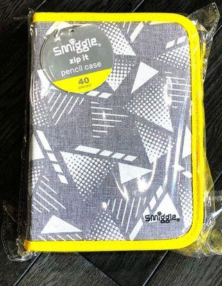 Smiggle zip it Pencil Case 40 pieces  stationery inside brand new