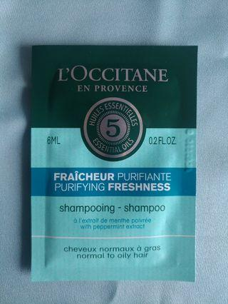 L'occitane Shampoo Sample