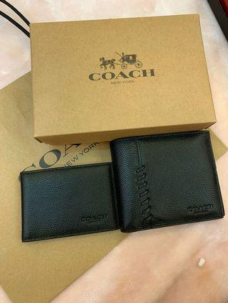 Coach Men Wallet short purse ready stock