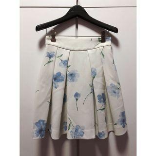 日牌🇯🇵Rirandature清新藍花花柄打褶裙