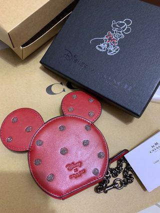 Authentic coach women mickey Disney coin pouch