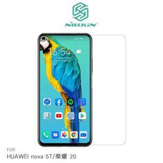 NILLKIN HUAWEI nova 5T/榮耀 20 超清防指紋保護貼 - 簡裝版