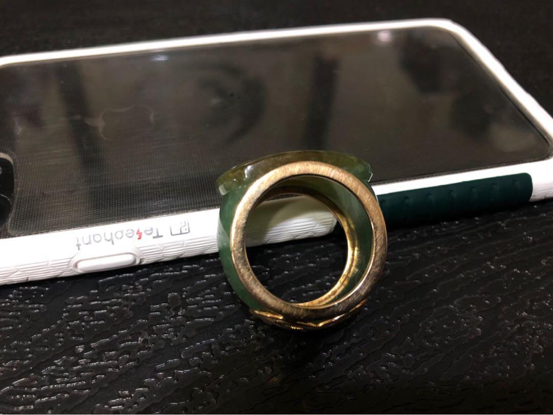 18K金緬甸玉戒指