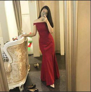 Red Maxi Prom Dress
