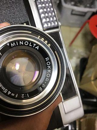 Minolta AL f2 快門 1/1000 鏡頭 底片 單眼相機 含 保護鏡 背帶