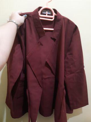 Preloved Jaket Wanita XXL Big Size Merah Outer