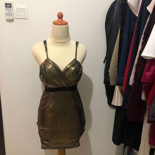 Party Dress • Mini Gold Dress