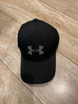 黑色 under amour 帽子