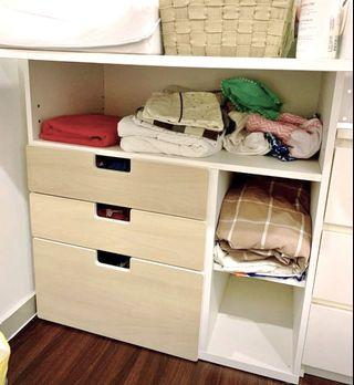 Ikea baby changing table & kids cabinet drawers
