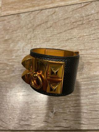黑色 荔枝皮 玫瑰金色 Hermès CDC S號 愛馬仕