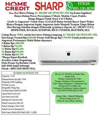AC SHARP AH-XP10UHY 1PK Cicilan tanpa kartu kredit
