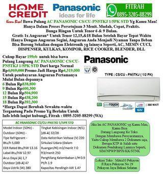 AC PANASONIC CS/CU-PN5TKJ 1/5PK Cicilan tanpa kartu kredit