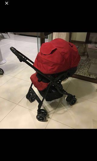 Stroller combi mechacal 4ac (auto 4 cas) garnet