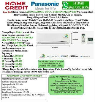 AC PANASONIC CS/CU-U10TKP 1PK INVERTER Cicilan tanpa kartu kredit