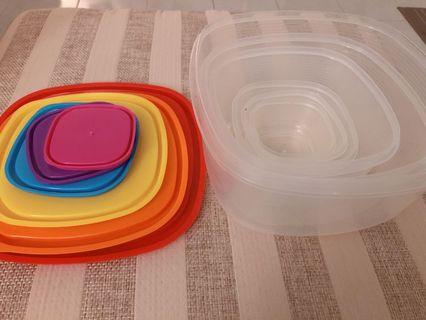 Tupperware multicolour and multisizes