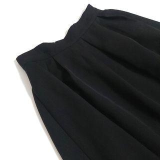 二手 女生 黑色 長裙 裙子 寬裙 鬆緊帶 網美 穿搭 休閒