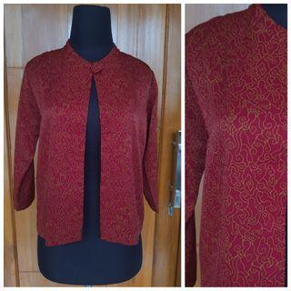 Blazer kerja cardi cardigan batik formal baju kerja cewek