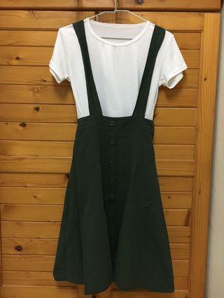 免運!兩件式吊帶裙  #五折清衣櫃
